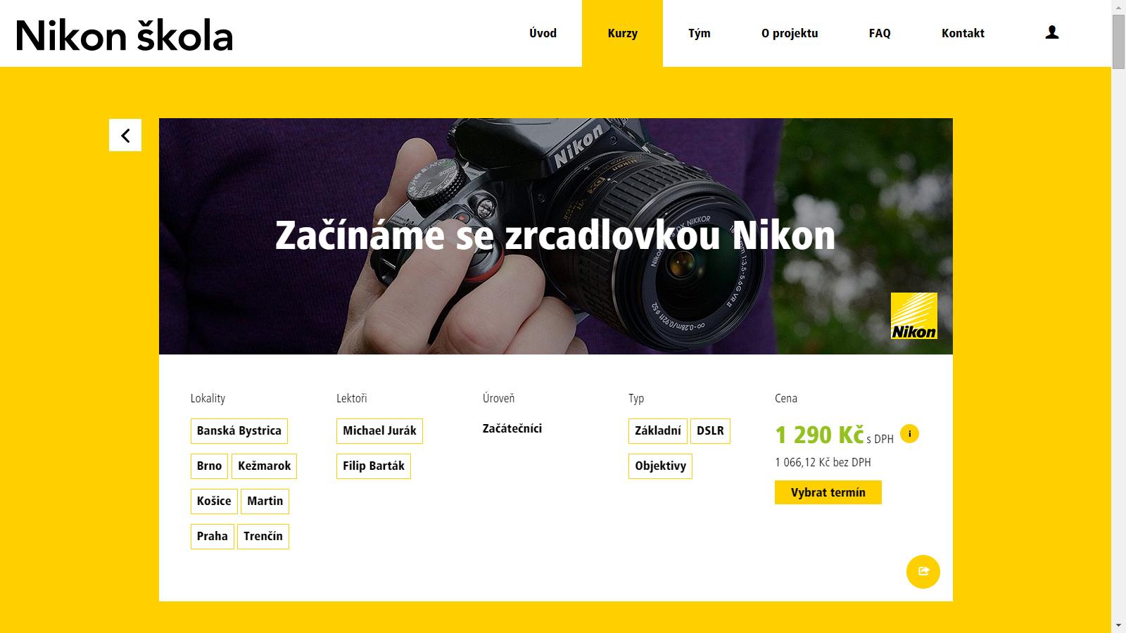 Nikon škola na Slovensku