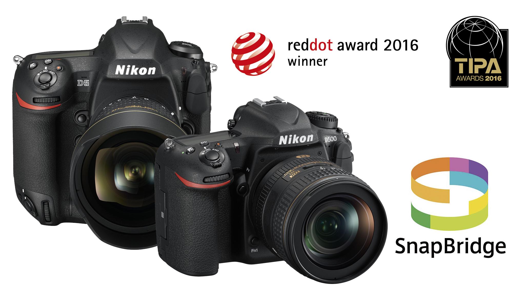 Zrkadlovky Nikon a aplikácia SnapBridge ocenené TIPA award a Red Dot Award